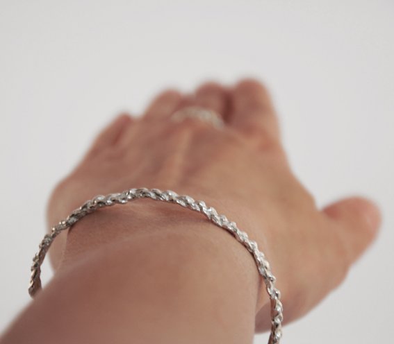 gehaakte armband | mieke de been • sieraden